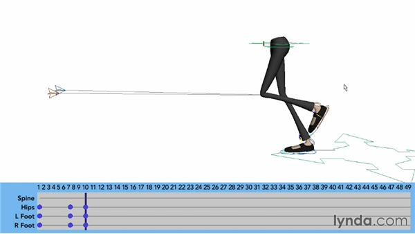 Animating a skip: Foot placement: Character Animation: Locomotion