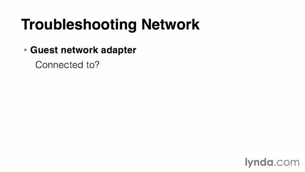 Troubleshooting network communication: Virtualization Essential Training