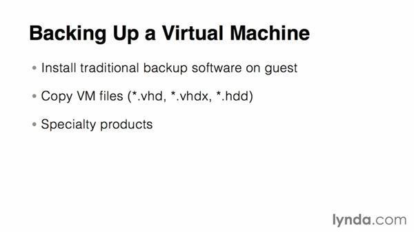 Backing up and recovering a virtual machine: Virtualization Essential Training