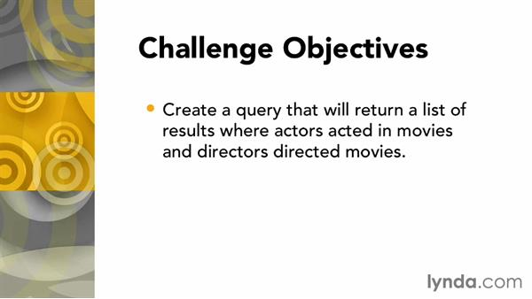 Challenge: Use a query to create a list: Up and Running with Neo4j