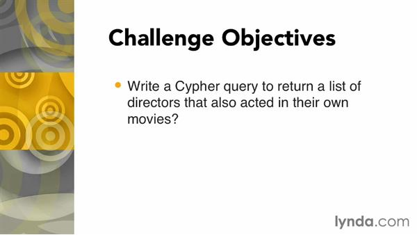 Challenge: Create a query to find specific directors: Up and Running with Neo4j