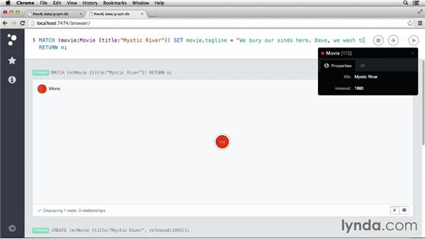 Creating entities: Up and Running with Neo4j