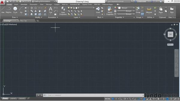 Changing workspaces: AutoCAD 2015 Essential Training