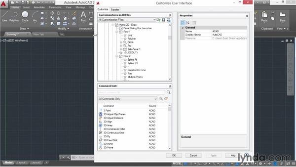 Customizing the user interface: AutoCAD 2015 Essential Training