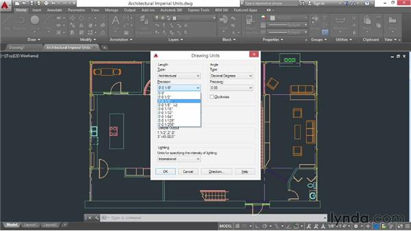 Selecting drawing units: AutoCAD 2015 Essential Training