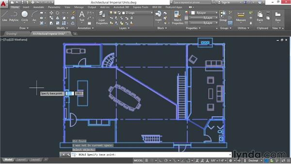 Converting drawings to new units: AutoCAD 2015 Essential Training