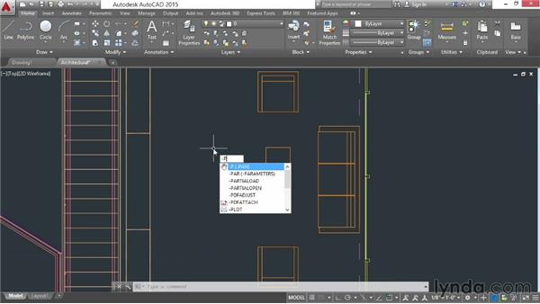 Using commands and panning a drawing: AutoCAD 2015 Essential Training