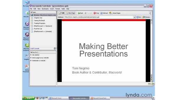 Editing other document types: Contribute 3 Essential Training