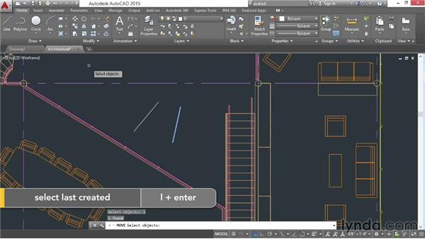 Selecting objects: AutoCAD 2015 Essential Training