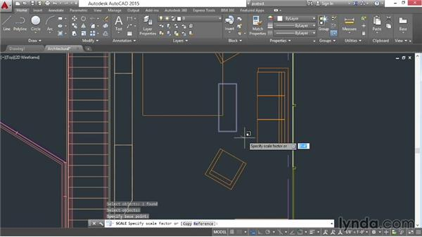 Rotating and scaling: AutoCAD 2015 Essential Training