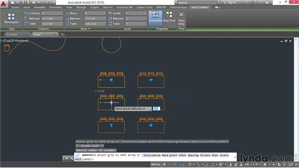 Arraying objects: AutoCAD 2015 Essential Training