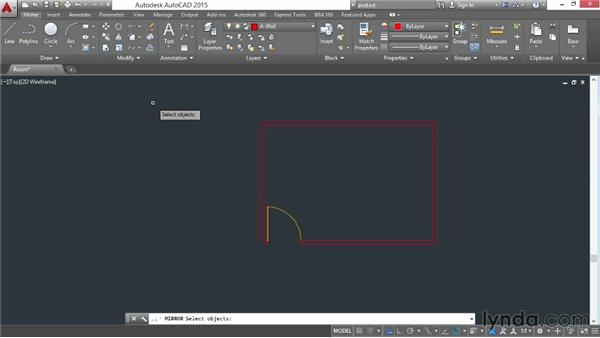 Offsetting and mirroring: AutoCAD 2015 Essential Training