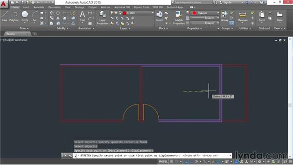 Stretching and lengthening: AutoCAD 2015 Essential Training