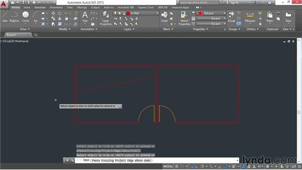 Trimming and extending: AutoCAD 2015 Essential Training