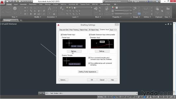 Enabling the heads-up display: AutoCAD 2015 Essential Training