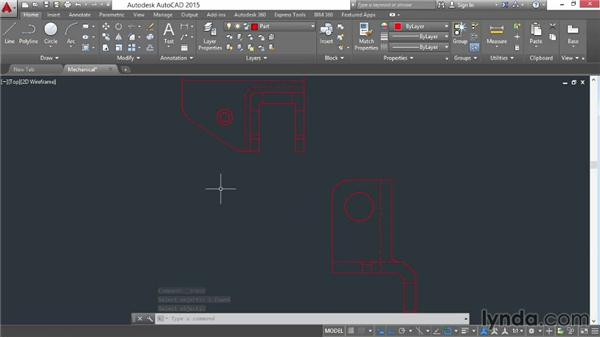 Using the From command: AutoCAD 2015 Essential Training