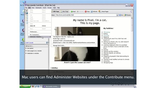 Removing administration from the website: Contribute 3 Essential Training