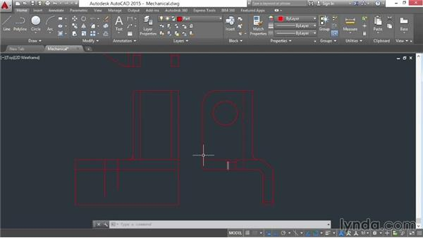 Engineering project: Part drawing: AutoCAD 2015 Essential Training