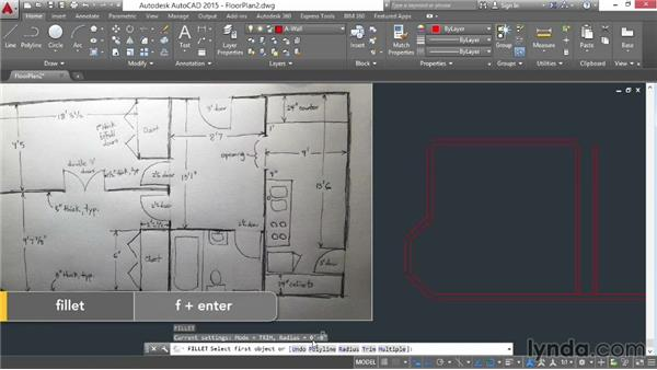 Architectural project: Drawing walls: AutoCAD 2015 Essential Training