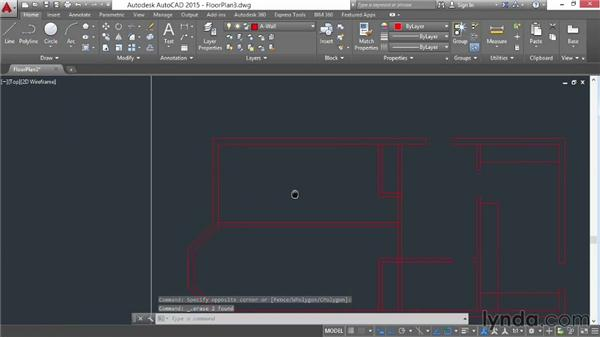 Architectural project: Cutting openings: AutoCAD 2015 Essential Training