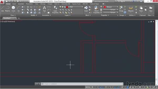Architectural project: Drawing doors: AutoCAD 2015 Essential Training