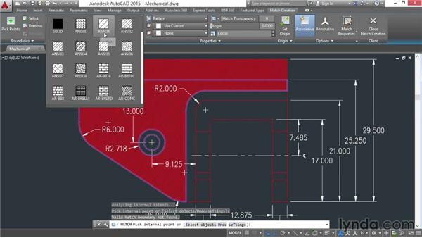 Using the Hatch command: AutoCAD 2015 Essential Training