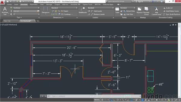 Editing existing dimensions: AutoCAD 2015 Essential Training