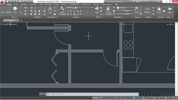 Hiding and isolating objects: AutoCAD 2015 Essential Training
