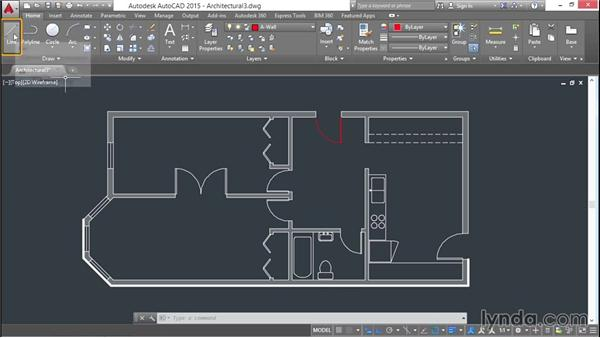 Creating layers: AutoCAD 2015 Essential Training