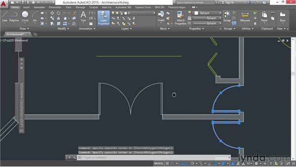 Using the Layer dropdown menu: AutoCAD 2015 Essential Training