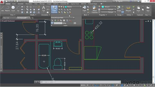 Accessing specialized layer tools: AutoCAD 2015 Essential Training