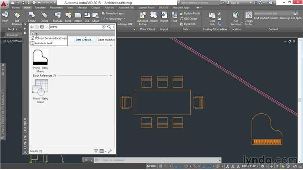 Accessing external block content: AutoCAD 2015 Essential Training
