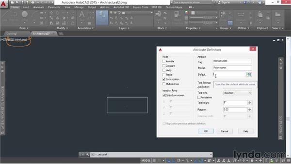 Designing attribute definitions: AutoCAD 2015 Essential Training