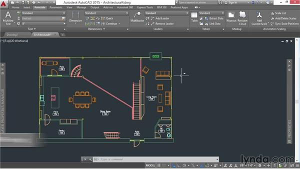 Creating a table: AutoCAD 2015 Essential Training