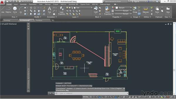 Attaching and overlaying xrefs: AutoCAD 2015 Essential Training