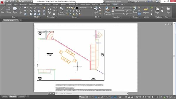 Configuring a viewport: AutoCAD 2015 Essential Training