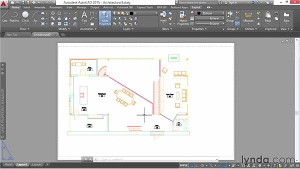 Locking viewports: AutoCAD 2015 Essential Training