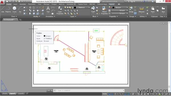 Drawing a title block: AutoCAD 2015 Essential Training