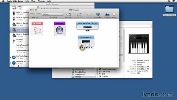 MIDI system setup on a Mac: Finale 2014 Essential Training