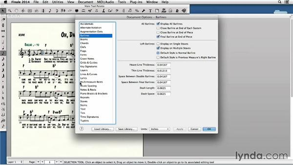 Formatting and printing a lead sheet: Finale 2014 Essential Training