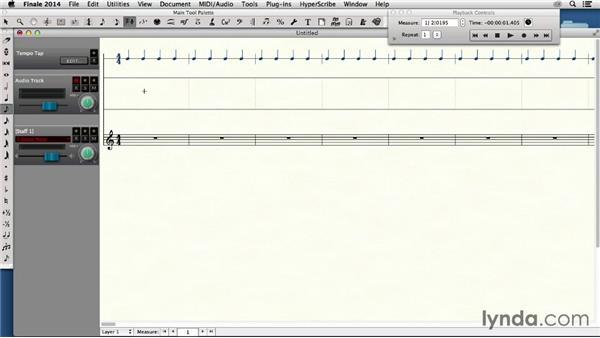 Recording audio: Finale 2014 Essential Training