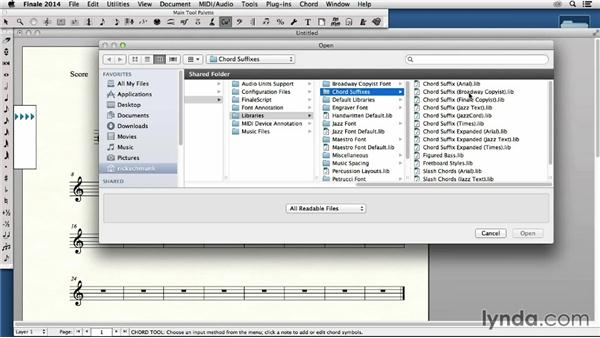 Importing, editing, and exporting libraries: Finale 2014 Essential Training