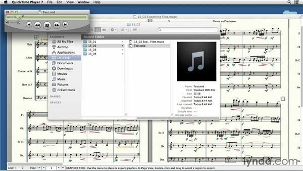 Exporting MIDI, XML, and audio files: Finale 2014 Essential Training