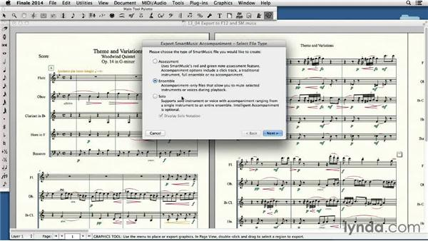 Exporting Finale 2014 files for use in SmartMusic and Finale 2012: Finale 2014 Essential Training