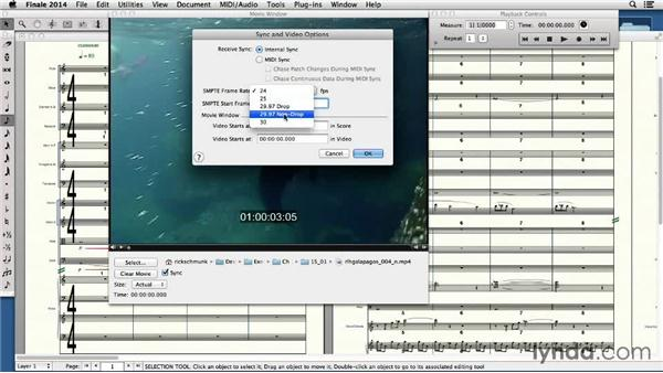 Adding video to a Finale score: Finale 2014 Essential Training