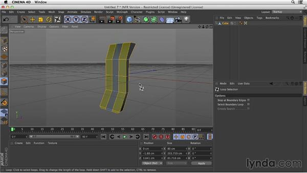 Making the turbine element using hard surface modeling: Motion Graphics Techniques: Creating a Sports Bumper