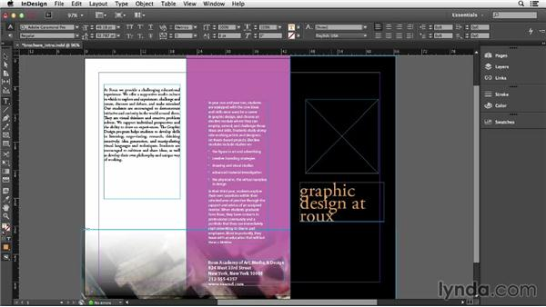 Adding and editing text: Getting Started with InDesign (2014)