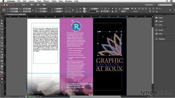 Adding and replacing graphics: Getting Started with InDesign (2014)