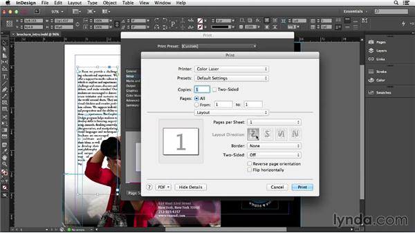 Printing and creating a PDF: Getting Started with InDesign (2014)