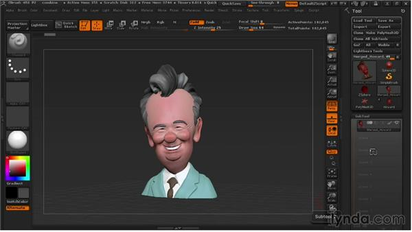 Managing Polygroups and SubTools: 3D Printing with ZBrush